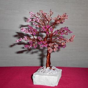 Rózsasazín kavalkád, Otthon & Lakás, Dekoráció, Dísztárgy, Gyöngyfűzés, gyöngyhímzés, Meska