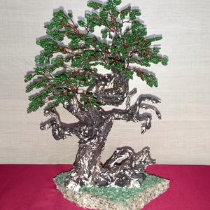 Zöld lombos bonsaifa - Meska.hu