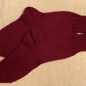 Kézzel kötött meleg zokni., Ruha & Divat, Cipő & Papucs, Zokni, Kötés, Puha meleg zokni a hűvösebb napokban. Rendelhető a képen látható színekben. Méretet kérem megadni. A..., Meska