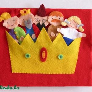 A didergő király- ujjbáb készlet és mini bábszínház, Gyerek & játék, Játék, Báb, Készségfejlesztő játék, Mindenmás, Baba-és bábkészítés, Saját tervezésű ujjbábkészlet A didergő király c. meséhez.\n\nA bábok (király, kislány, udvari fűtő, u..., Meska
