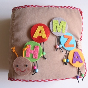Kukacos okoskönyv- készségfejlesztő, kreatív gyakorlókönyv (hasonló rendelhető), Gyerek & játék, Játék, Logikai játék, Készségfejlesztő játék, Mindenmás, Saját, egyedi tervezésű minta alapján készült textilkönyvecske, mely fejleszti a gyerekek kézügyessé..., Meska