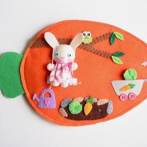 Mimi nyuszi répaházikója (Azonnal vihető!), Gyerek & játék, Játék, Készségfejlesztő játék, Plüssállat, rongyjáték, Mindenmás, Varrás, Ebben a takaros kis répa házikóban lakik Mimi, a kedves nyuszilány. Mimi imádja a kertészkedést, ház..., Meska