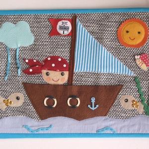Kalózos textilkép (Azonnal vihető) - otthon & lakás - dekoráció - kép & falikép - Meska.hu