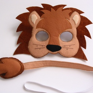 Bátor oroszlán farsangi jelmez szett –RENDELHETŐ!!!, Gyerek & játék, Játék, Otthon & lakás, Dekoráció, Ünnepi dekoráció, Farsang, Varrás, Egyedi tervezésű, filc anyagból készült, aprólékos és gondos munkával ez az oroszlán álarc és a hozz..., Meska