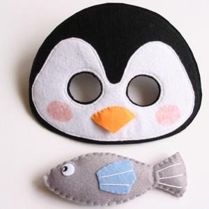 Pingvin halacskával jelmez szett -AZONNAL VIHETŐ!, Játék & Gyerek, Szerepjáték, Varrás, Egyedi tervezésű, filc anyagból készült, aprólékos és gondos munkával ez a pingvin álarc és a hozzá ..., Meska