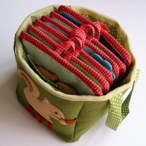 Matató textilkosár készségfejlesztő, kreatív gyakorló lapokkal (RENDELHETŐ) (Jam81) - Meska.hu