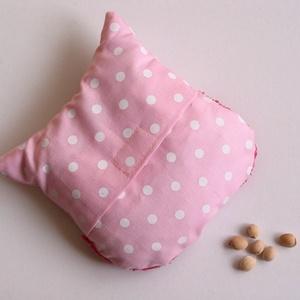 Bagoly doktor- meggymag párna (rózsaszín pöttyös-pink) (Jam81) - Meska.hu