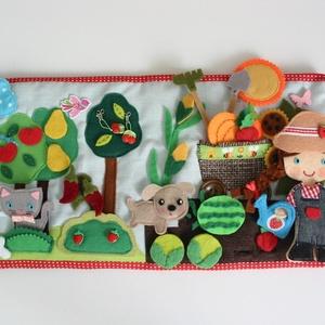 Vivi csodás veteményeskertje-Interaktív játszókönyv sok-sok pakolászható gyümölccsel és zöldséggel (Azonnal vihető!) (Jam81) - Meska.hu