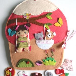 Óriás muffin játszókönyvecskeAZONNAL VIHETŐ!!!, Gyerek & játék, Játék, Baba, babaház, Készségfejlesztő játék, Varrás, Mindenmás, Részletgazdag óriás muffin házikó konyhával, nappalival, fürdőszobával és hálószobával.\n A muffin há..., Meska