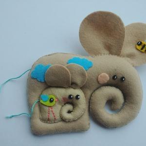Együtt mókásabb!- Elefántok, Elefánt, Plüssállat & Játékfigura, Játék & Gyerek, Varrás, Filc anyagból készültek, ezek a saját tervezésű, kézzel készített bájos elefántok. Mókás játék kicsi..., Meska