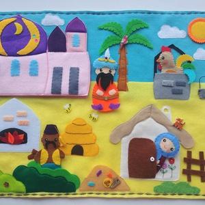 A kiskakas gyémánt félkrajcárja- ujjbáb készlet és mini bábszínház(Rendelhető!), Gyerek & játék, Játék, Báb, Készségfejlesztő játék, Mindenmás, Baba-és bábkészítés, Saját tervezésű ujjbábkészlet A kiskakas gyémánt félkrajcárja c. meséhez.\n\nA bábok (gazdasszony, kis..., Meska