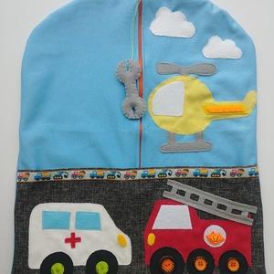 Óvodai ruhazsák járművekkel- AZONNAL VIHETŐ!!!, Ovis zsák, Ovis zsák & Ovis szett, Játék & Gyerek, Varrás, Kiváló minőségű, strapabíró anyagból készült óvodai ruhazsák  mindenféle járművel: tűzoltó autó, men..., Meska