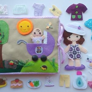 Anyu és én!  Interaktív-öltöztetős játszókönyvecske (Azonnal vihető!), Gyerek & játék, Játék, Készségfejlesztő játék, Baba, babaház, Varrás, Mindenmás, Saját, egyedi tervezésű minta alapján készült nagyméretű, interaktív játszókönyvecske, mely rendkívü..., Meska