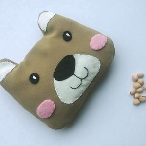 Maci buksi- meggymag párna, Szépségápolás, Egészségmegőrzés, Varrás, Puha anyagból készült, meggymaggal töltött, maci buksi alakú gyógypárnácska. A meggymag párna nagy e..., Meska