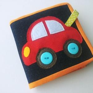 Kisautós leporello könyv kicsiknek- kreatív textilkönyv (azonnal vihető!), Játék & Gyerek, Textilkönyv & Babakönyv, Mindenmás, Meska