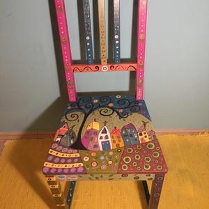 Meseszék, Bútor, Otthon & lakás, Szék, fotel, Gyerek & játék, Gyerekszoba, Festészet, Famegmunkálás, Új, vagy használt székre (és egyéb bútorokra is) vállalom egyedi motívumok festését.\n\nGyerekszobába,..., Meska