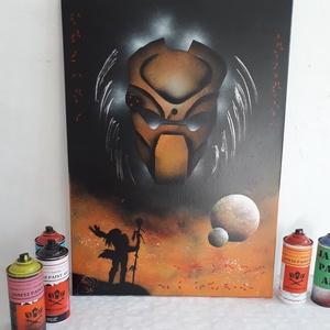 Predator festmény - festékszóróval készült, Művészet, Akril, Festmény, Festészet, Meska