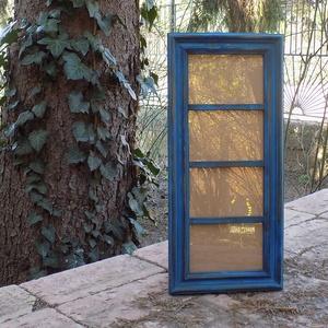 Képkeret-Fotókeret-4 db 9x13-as képhez-Pácolt Kék-79, Férfiaknak, Otthon & lakás, Lakberendezés, Képkeret, tükör, Dekoráció, Kereteim fenyőfából készülnek. A munka során kialakul egy rusztikus, részletgazdag tárgy, aminek szi..., Meska