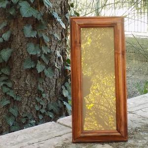 Képkeret-Fotókeret-10x29,7 cm-es képhez-Pácolt cseresznye színű-152, Férfiaknak, Otthon & lakás, Dekoráció, Lakberendezés, Képkeret, tükör, Kereteim fenyőfából készülnek. A munka során kialakul egy rusztikus, részletgazdag tárgy, aminek szi..., Meska
