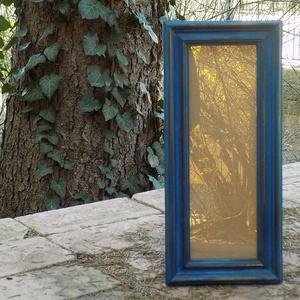 Képkeret-Fotókeret-10x29,7 cm-es képhez-Pácolt Kék-Ricás-150, Férfiaknak, Otthon & lakás, Dekoráció, Lakberendezés, Képkeret, tükör, Famegmunkálás, Kereteim fenyőfából készülnek. A munka során kialakul egy rusztikus, részletgazdag tárgy, aminek szi..., Meska