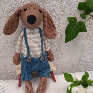 Horgolt kutya, Játék & Gyerek, Plüssállat & Játékfigura, Kutya, Horgolás, Horgolt kutyust készítettem amigurumi technikával, 100% gyermekbarát pamutfonal felhasználásával.   ..., Meska