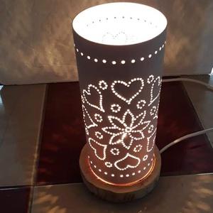 Szeretet hangulati lámpa, Lakberendezés, Otthon & lakás, Lámpa, Asztali lámpa, Mindenmás, Pvc csőböl készült,mivel közeledik Valentin nap,engem is megcsapott a szerelem szele.Igy szives mint..., Meska