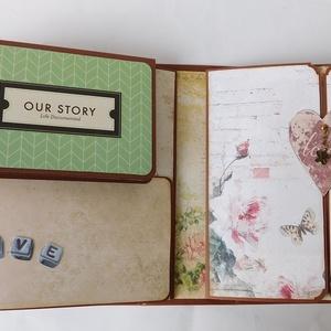 Menyasszony- vőlegény - egyedi, kézműves scrapbook fotóalbum (Jbgifts) - Meska.hu