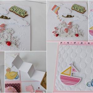 Egyedi, kézműves meglepetés-doboz- pénzátadó kislányoknak keresztelőre, gyermekáldásra (Jbgifts) - Meska.hu