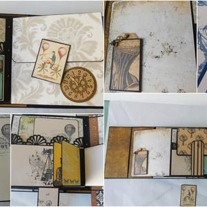 Egyedi, kézműves, nagyméretű steampunk táska scrapbook album (Jbgifts) - Meska.hu