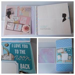 Modern szerelem - egyedi, kézműves LOVE/ esküvői scrapbook album, Otthon & Lakás, Papír írószer, Album & Fotóalbum, Papírművészet, Ha szereted a régies dolgokat de a MODERN a kedvenced, akkor ez az egyedi, kézműves scrapbook album ..., Meska