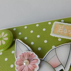Nyuszi, hopp...! - egyedi, kézműves húsvéti képeslap (Jbgifts) - Meska.hu