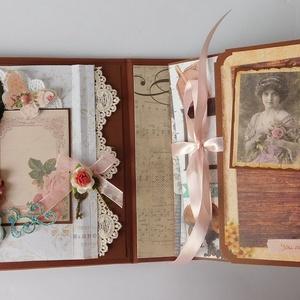 Egyedi, kézműves virágos születésnapi scrapbook album (Jbgifts) - Meska.hu