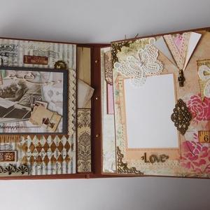 50 év képekben - egyedi, kézműves mixed media születésnapi scrapbook album (Jbgifts) - Meska.hu