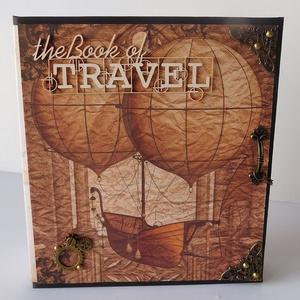 Utazó - egyedi, kézműves steampunk scrapbook album (Jbgifts) - Meska.hu