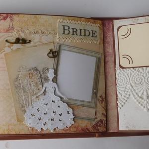 Egy a lelkünk - egyedi, kézműves, interaktív scrapbook album esküvőre, szerelmeseknek, évfordulóra, vintage, scrapbook (Jbgifts) - Meska.hu