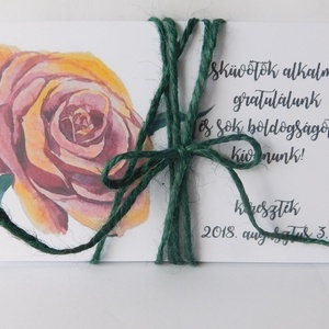 Roses- egyedi, modern, amerikai stílusú pénzátadó esküvőre, születésnapra, ballagásra, virágos, zsebes,  (Jbgifts) - Meska.hu