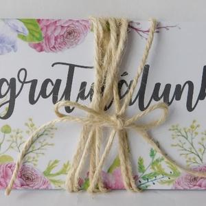 Egyedi, modern, amerikai stílusú pénzátadó esküvőre, születésnapra, ballagásra, virágos, zsebes,  (Jbgifts) - Meska.hu