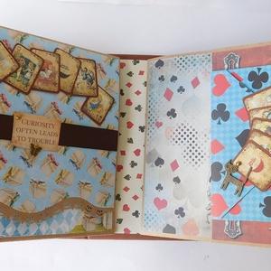 Alice - egyedi, kézműves pop up scrapbook album kislányoknak születésnapra, családi (Jbgifts) - Meska.hu