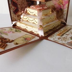 Gratulálunk! - egyedi, kézműves esküvői pénzátadó, meglepetés doboz, explosion box (Jbgifts) - Meska.hu