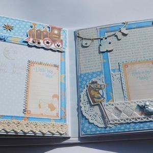 Egyedi, kézműves babanapló- és fotóalbum szett keresztelőre vagy gyermekáldásra, baba, babakönyv, baba emlékkönyv,  (Jbgifts) - Meska.hu