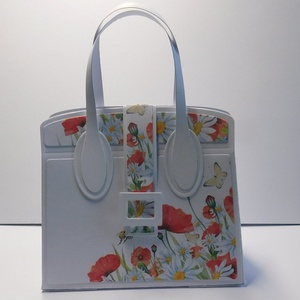 Egyedi, kézműves amerikai stílusú esküvői táska pénzátadó, virágos, pipacsos, zsebes (Jbgifts) - Meska.hu