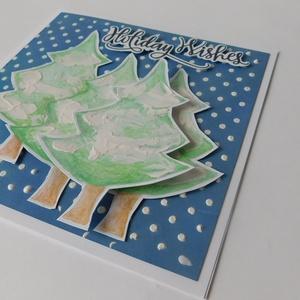 Fehér karácsony - Karácsony 2018 - egyedi, kézműves karácsonyi képeslap és pénzátadó szett. karácsony, Christmas card (Jbgifts) - Meska.hu
