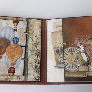 Egyedi, kézműves steampunk love fotóalbum ifjú pároknak, szerelmeseknek (Jbgifts) - Meska.hu