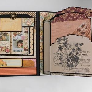 Memories scrapbook album és napló, Album & Fotóalbum, Papír írószer, Otthon & Lakás, Papírművészet, Gyönyörű scrapbook fotóalbum és napló bármilyen alkalomra. Legyen születésnap, eljegyzés, évforduló,..., Meska
