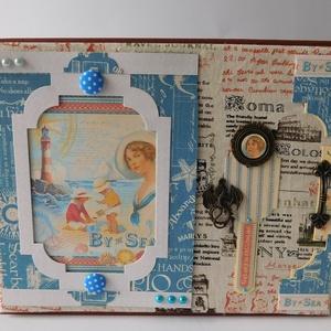 Our Honeymoon - utazási fotóalbum és útinapló, Album & Fotóalbum, Papír írószer, Otthon & Lakás, Papírművészet, Nagyméretű, egyedi utazási napló- és fotóalbum nászutasoknak, az utazás szerelmeseinek. Az album tel..., Meska