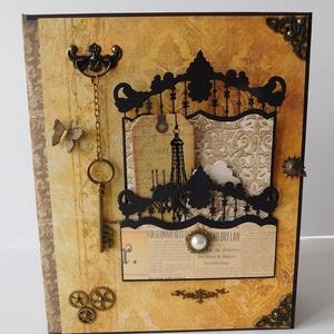 Nagyméretű, steampunk love scrapbook album, Férfiaknak, Steampunk ajándékok, Otthon & lakás, Naptár, képeslap, album, Papírművészet, Gyönyörű, nagyméretű steampunk love interaktív scrapbook album szerelmeseknek, esküvő vagy házassági..., Meska