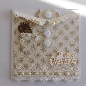 Aranyban - Karácsony 2020- egyedi, kézműves karácsonyi képeslap és pénzátadó. karácsony, Christmas card, Otthon & Lakás, Karácsony & Mikulás, Karácsonyi képeslap, Papírművészet, A Karácsony 2020 képeslapsorozatom annyira egyedi, hogy a sorozatban lévő minden képeslapból egyetle..., Meska