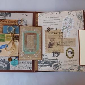 Az utazó - egyedi, kézműves utazási album férfiaknak, szerelmeseknek, Otthon & Lakás, Papír írószer, Album & Fotóalbum, Papírművészet, Gyönyörű, egyedi kézműves utazási album és útinapló uraknak, szerelmes pároknak illetve ifjú házasok..., Meska