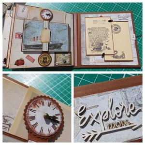 Journey - egyedi, kézműves utazási album , Album & Fotóalbum, Papír írószer, Otthon & Lakás, Papírművészet, Gyönyörű, egyedi kézműves utazási album és útinapló, melyben megörökítheted egy vagy több kedvenc ut..., Meska