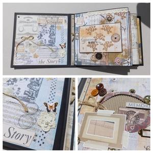 You and me - egyedi, kézműves esküvői vagy évfordulós steampunk scrapbook album, emlékkönyv, fotóalbum, Esküvő, Nászajándék, Otthon & lakás, Naptár, képeslap, album, Fotóalbum, Férfiaknak, Steampunk ajándékok, Papírművészet, Gyönyörű, egyedi kézműves mixed media steampunk esküvői vagy évfordulós fotóalbum, melyben megörökít..., Meska